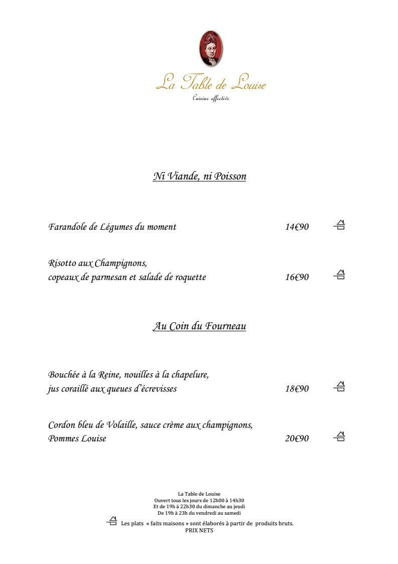 La table de louise strasbourg carte menu et photos - Table de louise strasbourg ...