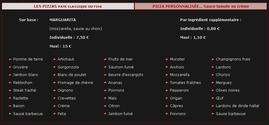 pizza factory strasbourg carte et menu en ligne. Black Bedroom Furniture Sets. Home Design Ideas