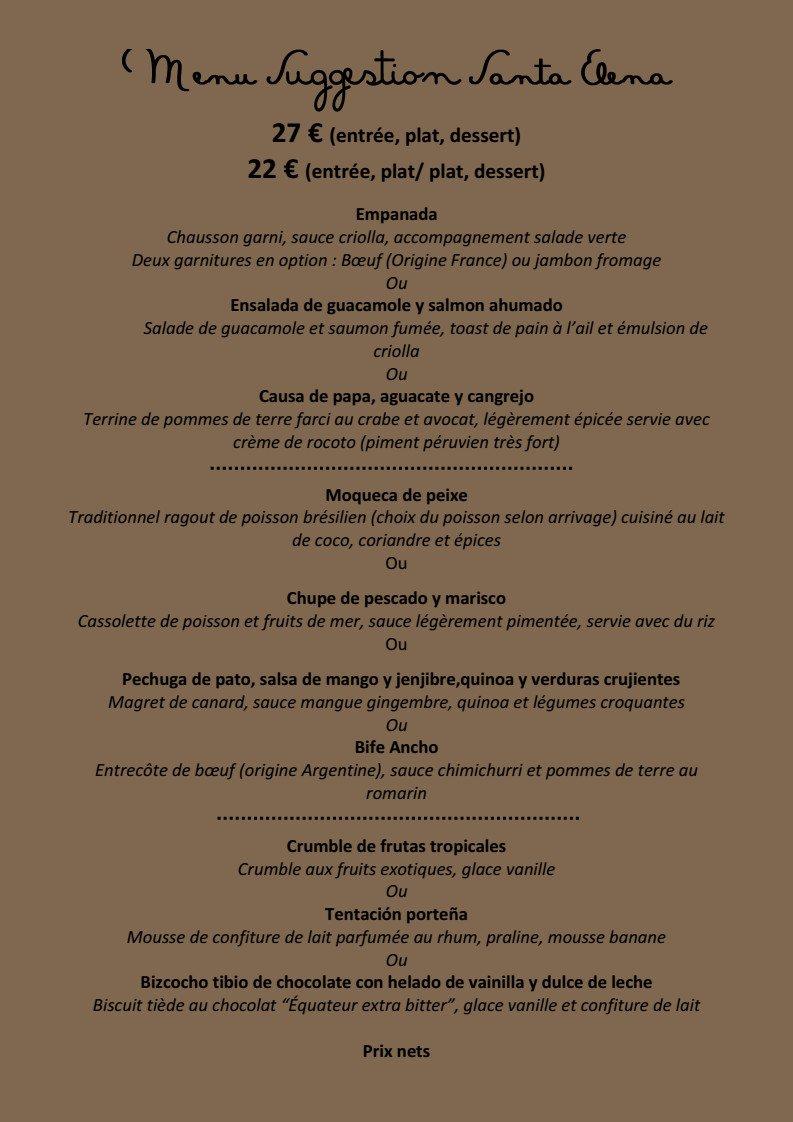 Elena S Restaurant Menu