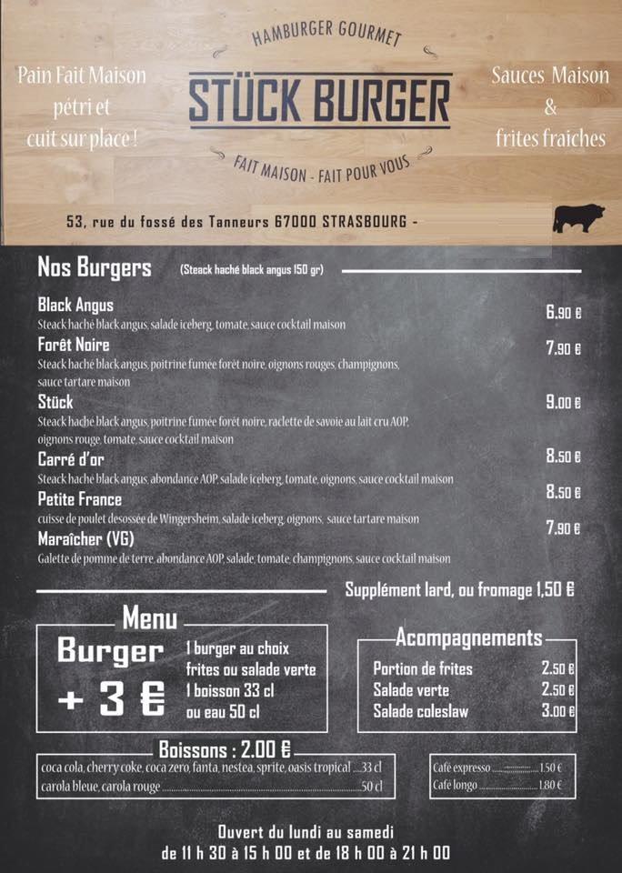 st ck burger strasbourg carte menu et photos. Black Bedroom Furniture Sets. Home Design Ideas