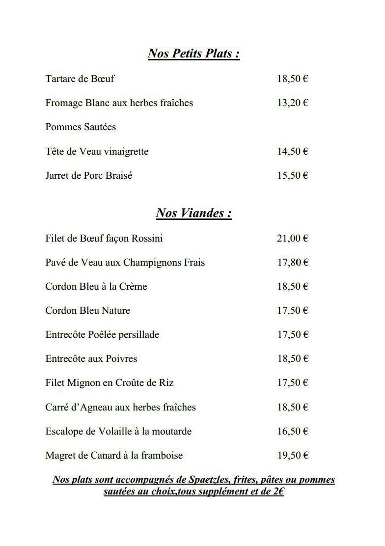 S 39 dorf stuebel dorlisheim carte menu et photos for Restaurant dorlisheim