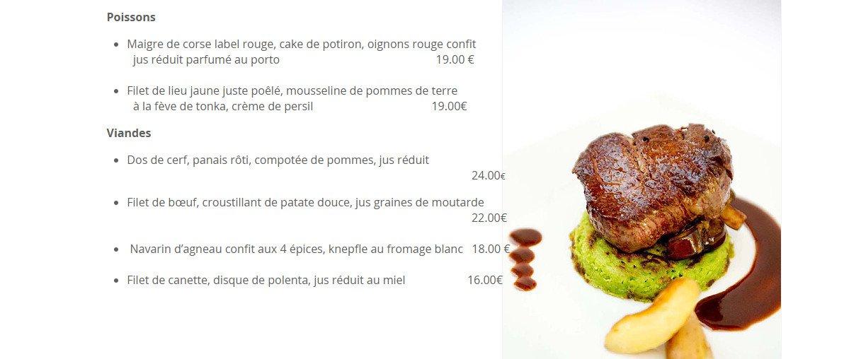 La Cuisine Des Saveurs  U00e0 Haguenau  Carte