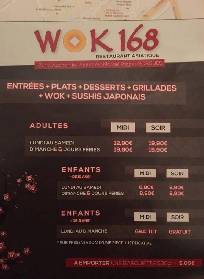 wok 168 colmar carte menu et photos. Black Bedroom Furniture Sets. Home Design Ideas