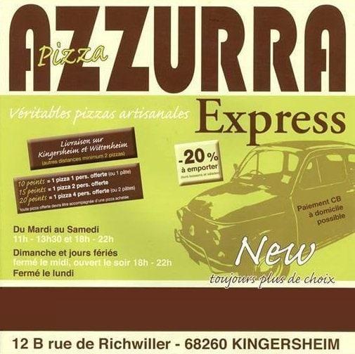 pizza azzurra express kingersheim carte et menu en ligne. Black Bedroom Furniture Sets. Home Design Ideas