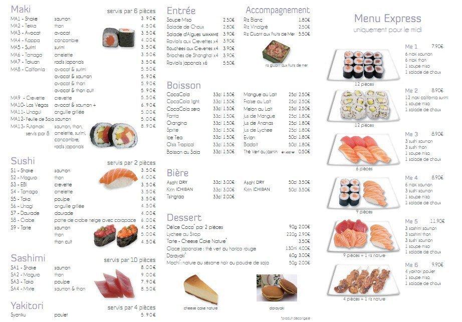 Au petit poisson rouge lyon 4 carte et menu en ligne for Achat poisson rouge lyon