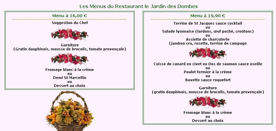 Le jardin des dombes lyon 4 carte menu et photos for Restaurant le jardin neufchatel menus