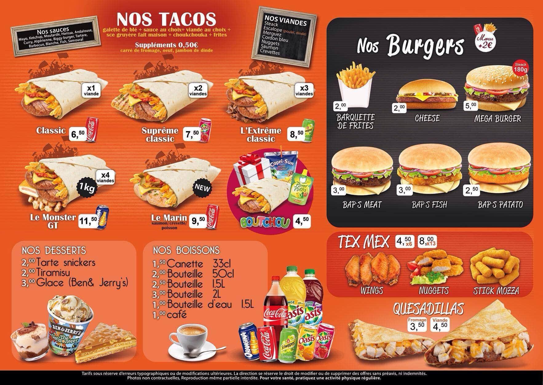 Generation tacos decines charpieu carte menu et photos for Cuisine regale
