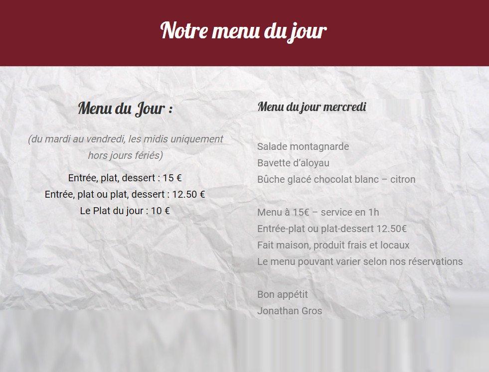 Le verre maison pollionnay carte menu et photos - Le verre maison ...