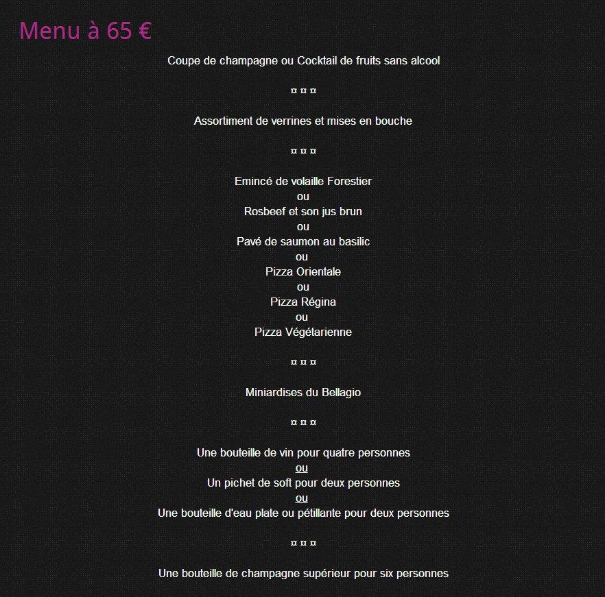 Bellagio collonges au mont d 39 or carte menu et photos - Mont d or four ...