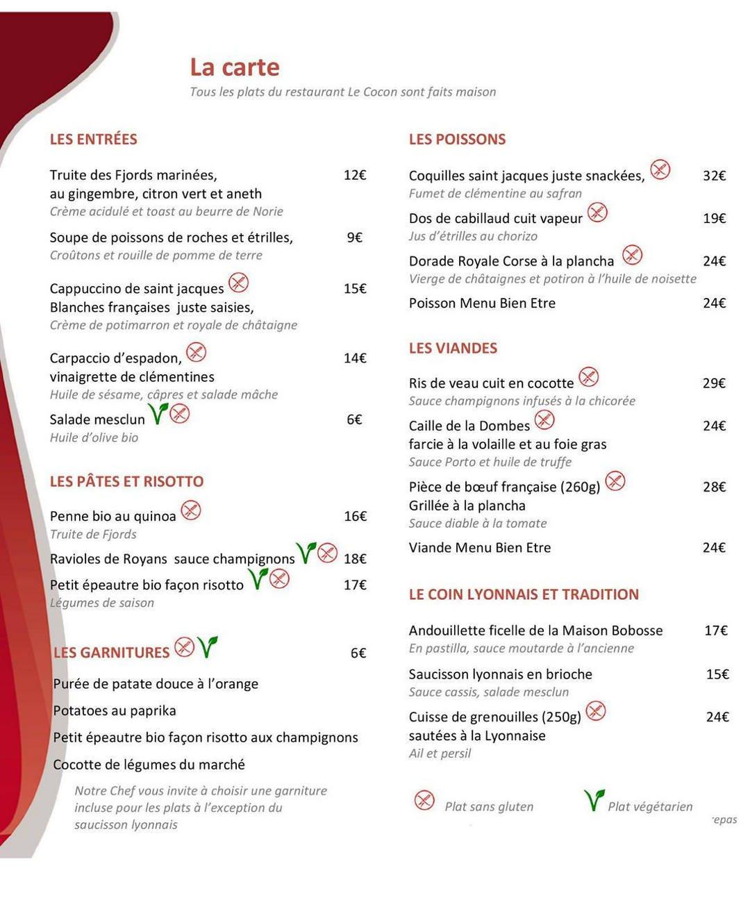 Le cocon saint priest carte menu et photos - Stock cuisine saint priest ...