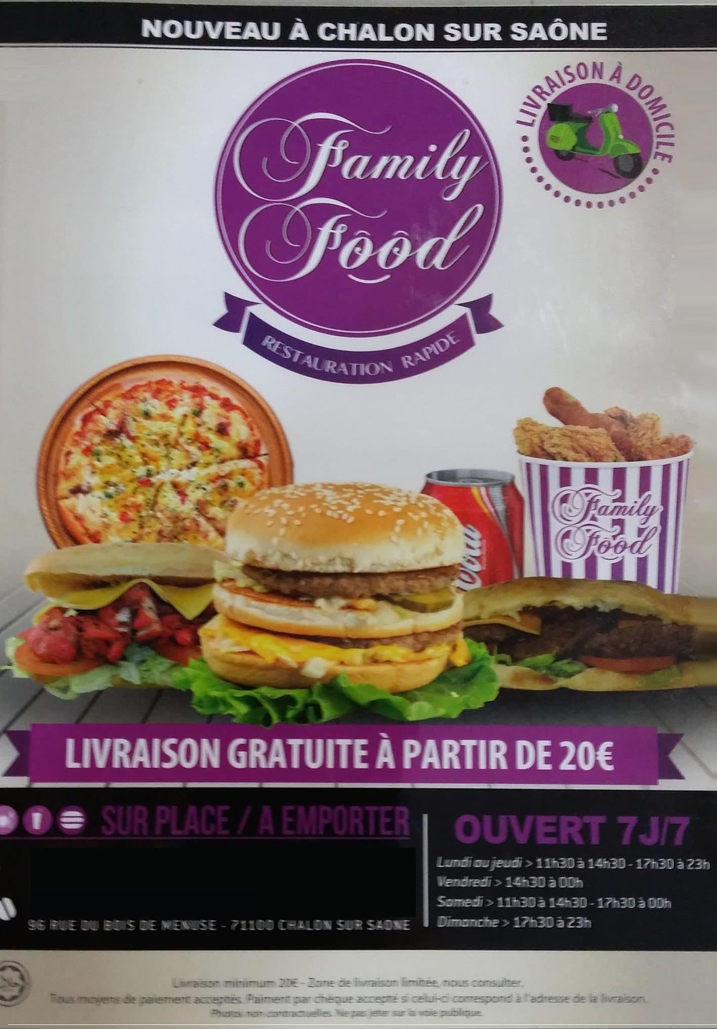 family food  u00e0 chalon sur saone  carte