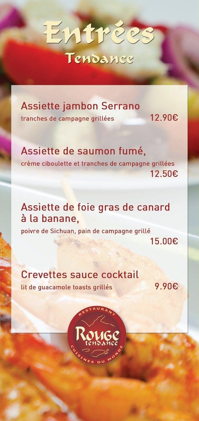 Rouge tendance aix les bains carte menu et photos for Aix cuisine du terroir menu