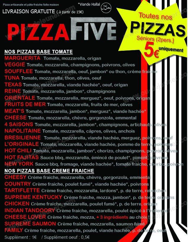 Pizza five annemasse carte menu et photos for Pizza original