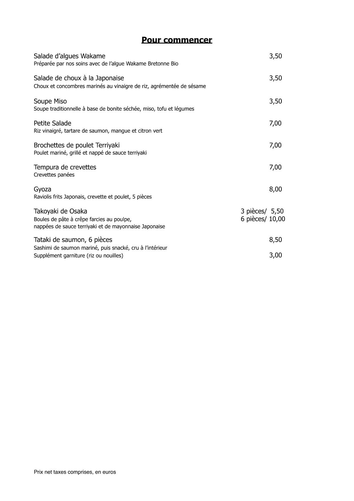 Sushi-Doki à Saint Julien En Genevois, carte-menu et photos