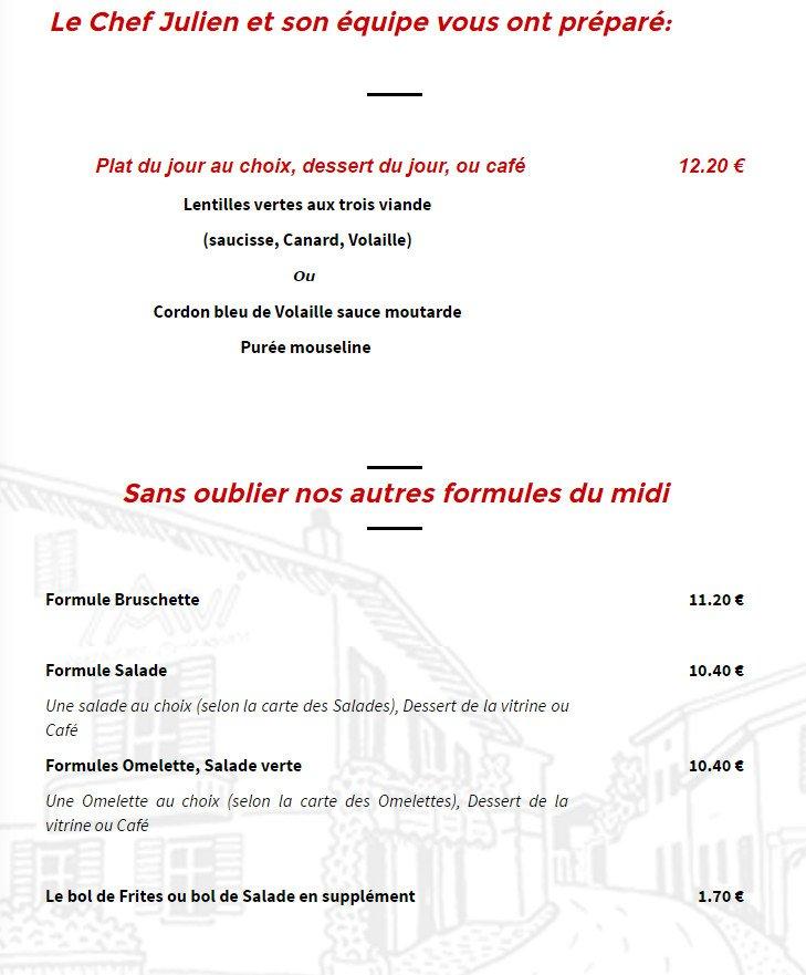 Restaurant L Arvi Gaillard Menu