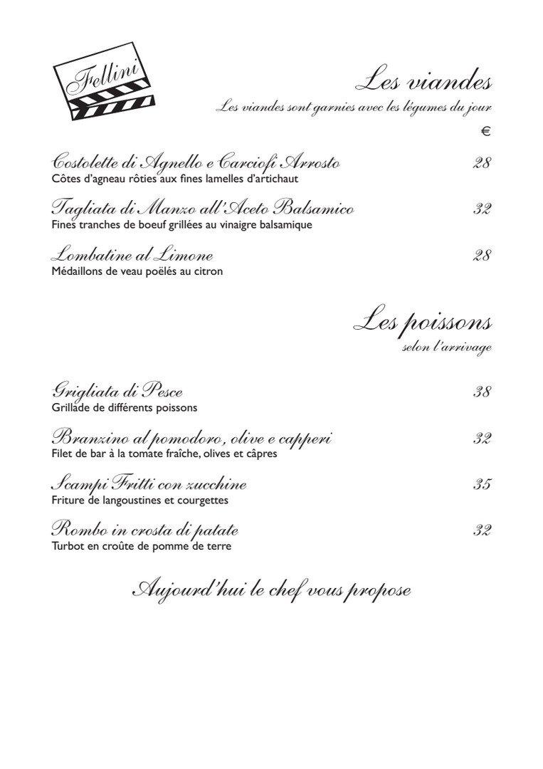 Fellini Restaurant Paris