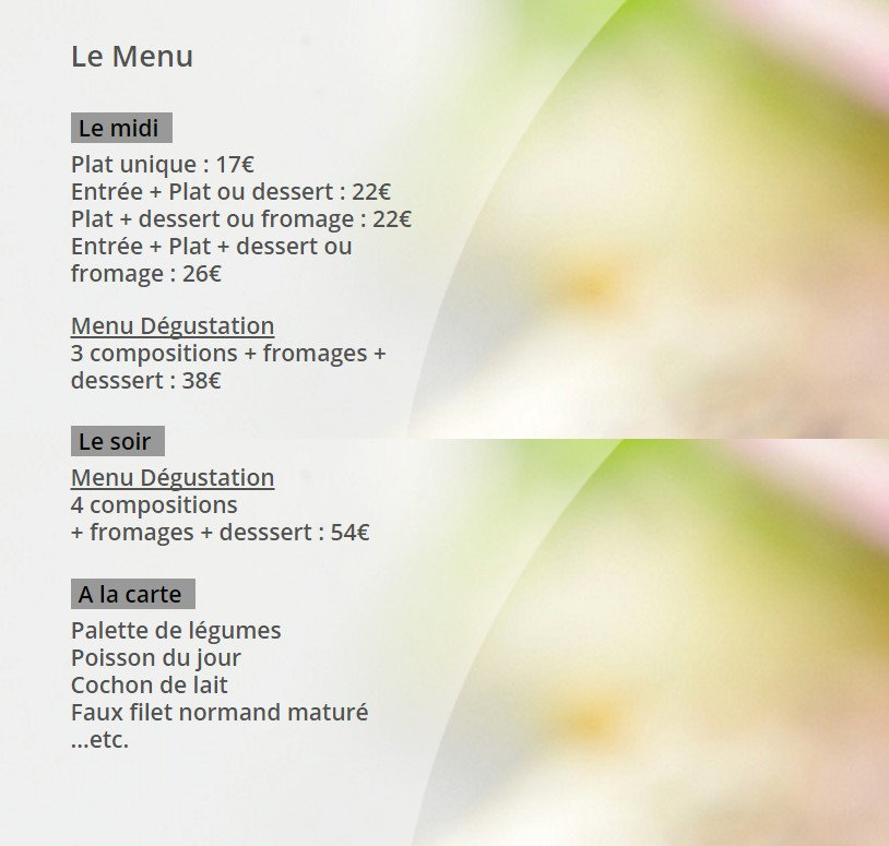 Paris 6 carte menu et photos for H kitchen paris menu