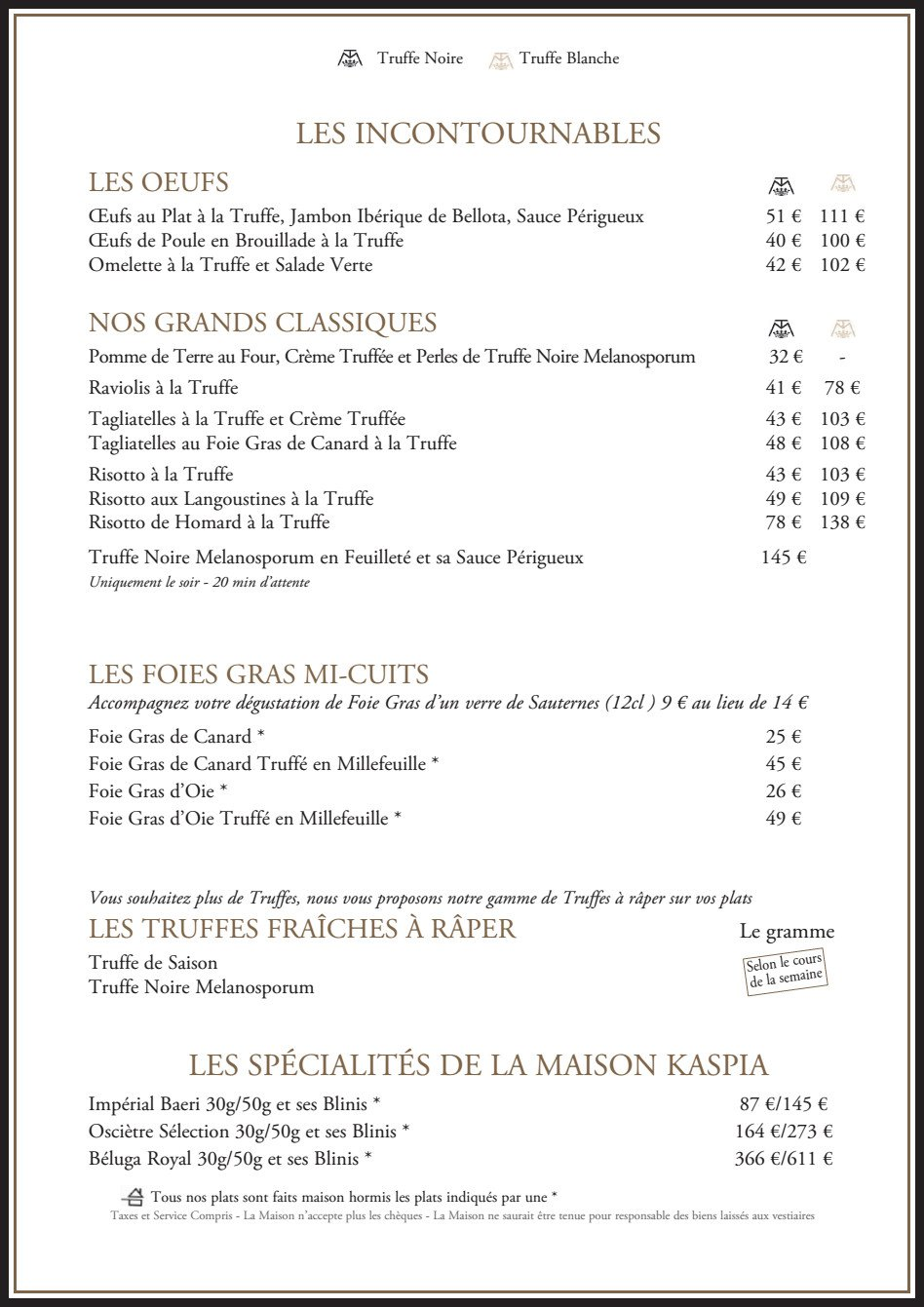 La maison de la truffe paris 9 carte menu et photos - Maison des truffes paris ...