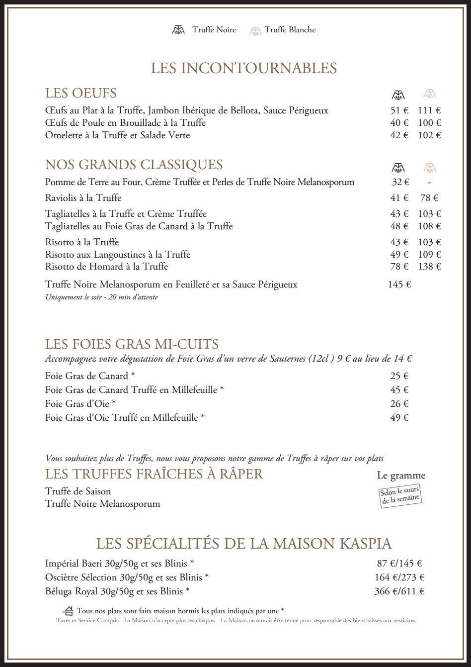 La maison de la truffe paris 9 carte menu et photos - Maison des truffes paris ...