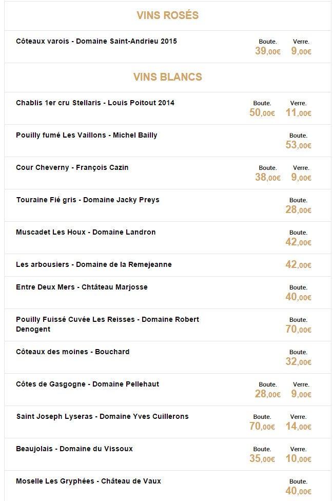 La table du vii paris 9 carte menu et photos for Table 9 menu