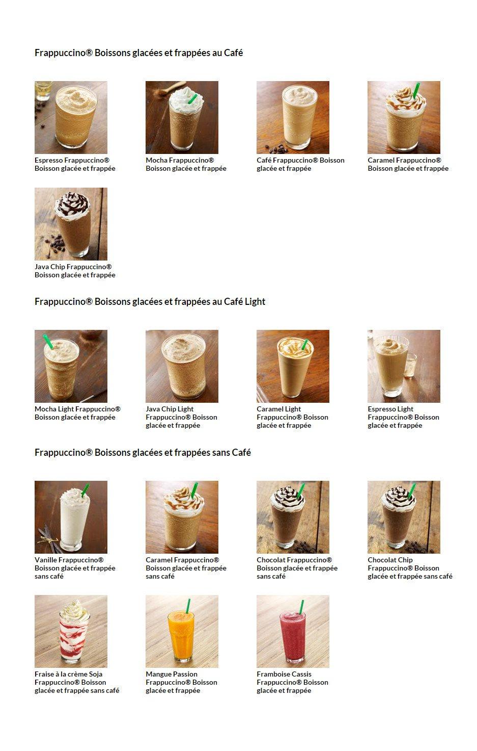 Starbucks Coffee 224 Paris 9 Carte Menu Et Photos