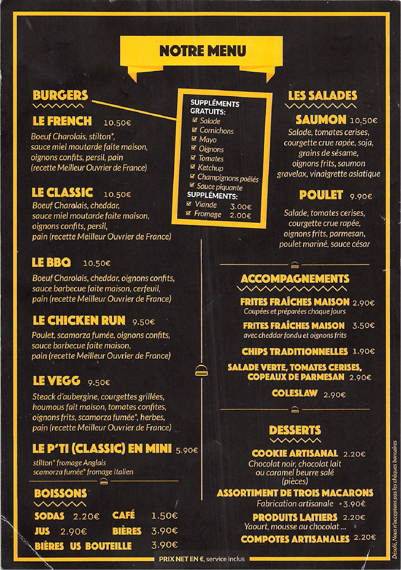 french burger factory paris 10 carte menu et photos. Black Bedroom Furniture Sets. Home Design Ideas