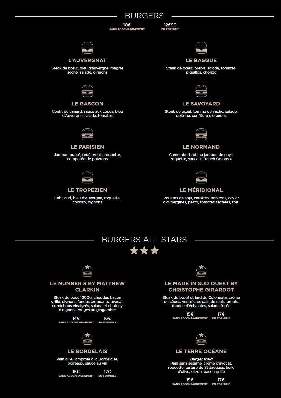 French Burgers 224 Paris 11 Carte Menu Et Photos