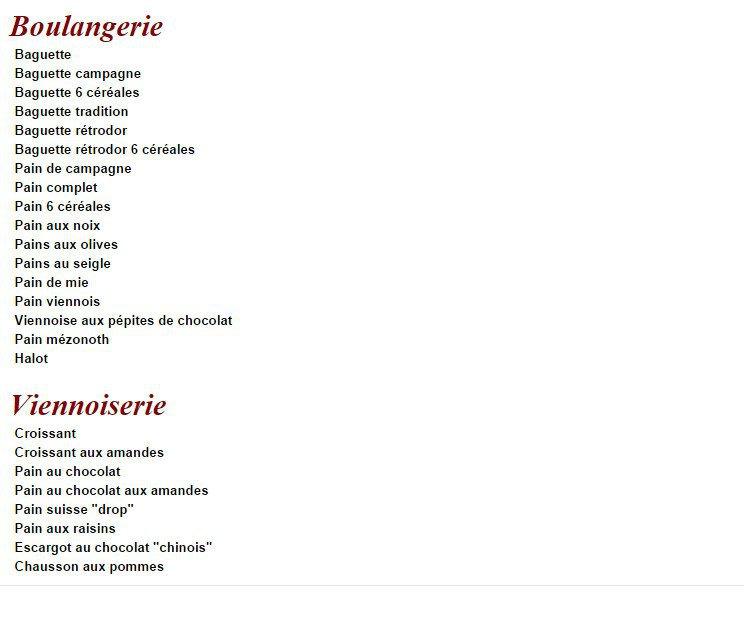 Carte Boulangerie.Boulangerie Simon A Paris 12 Carte Menu Et Photos
