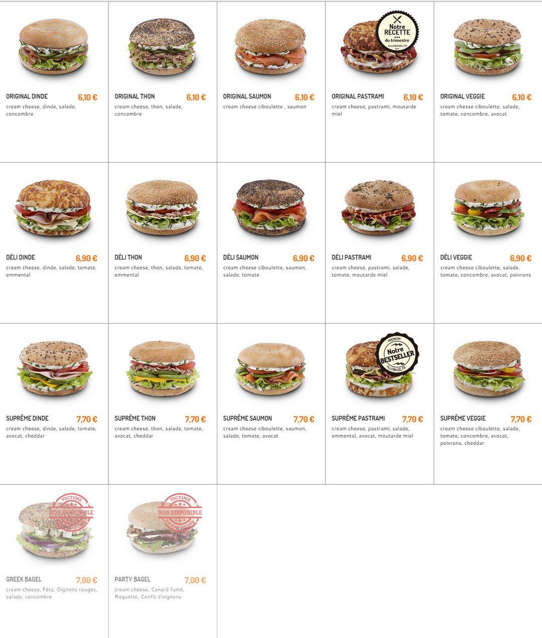 Bagel corner paris 13 carte menu et photos for Menu ete original