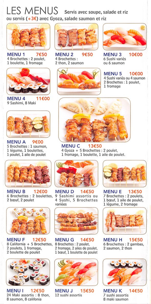 Sushi magic paris 13 carte menu et photos for H kitchen paris menu
