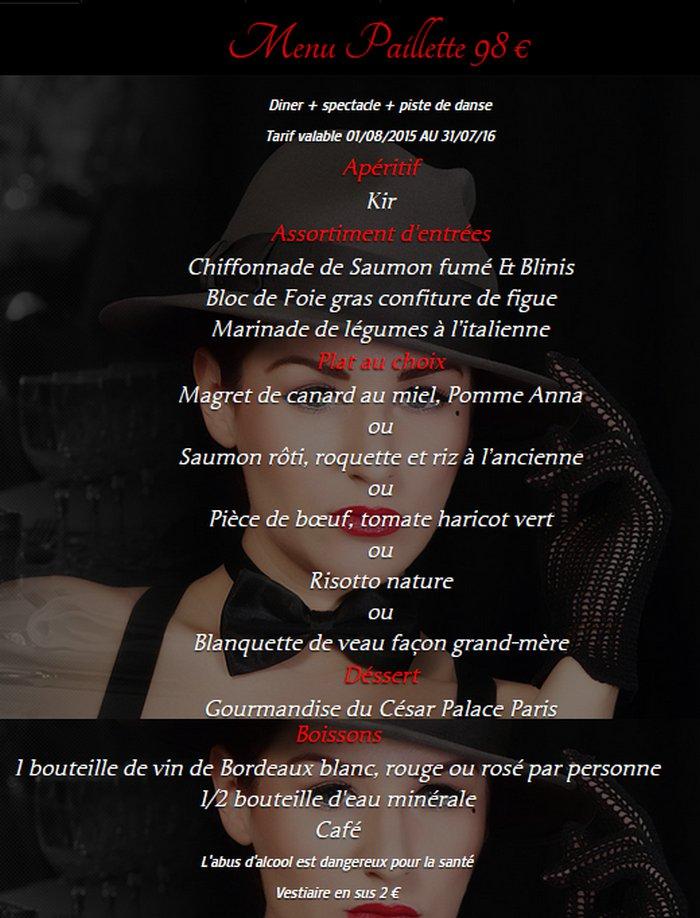 Cesar Restaurant Paris Carte