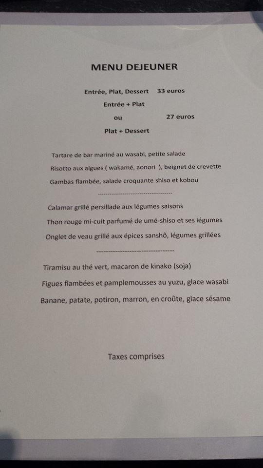 le concert de cuisine à paris 15, carte-menu et photos