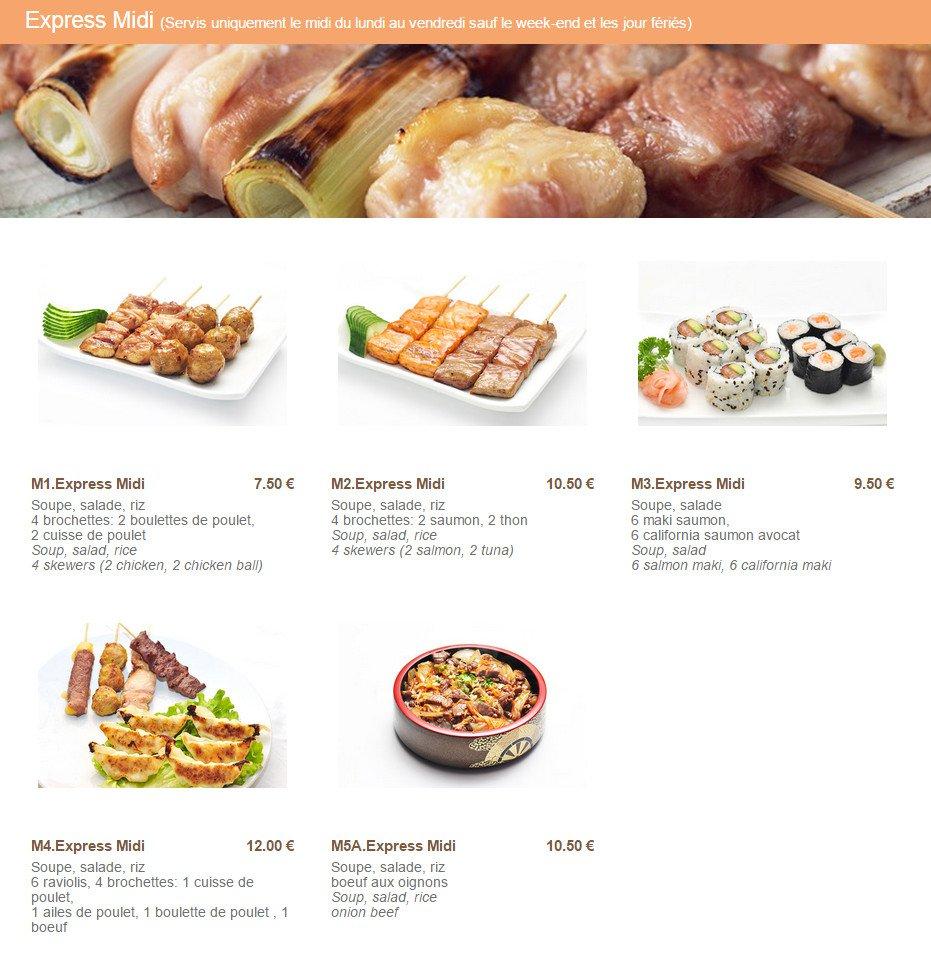 Okito à Paris 15, carte-menu et photos