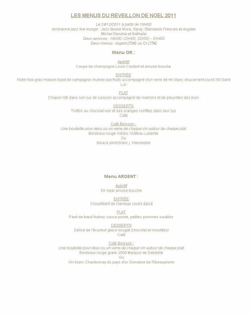 Le marfil paris 16 carte menu et photos - Reveillon de noel original ...
