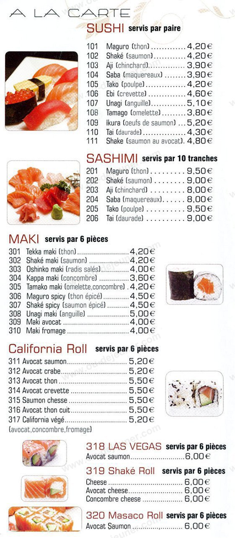 Kochi Restaurant Menu