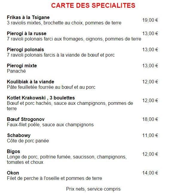 Restaurant Polonais Paris