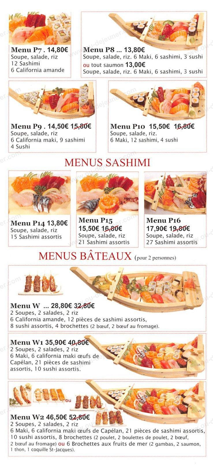 Toyama Restaurant Menu