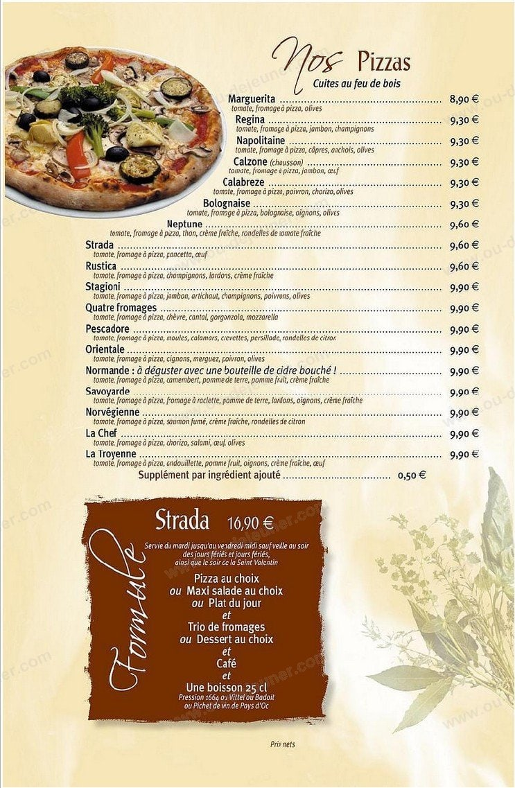 La Stradaà Bois Guillaume, carte menu et photos # Pizza Bois Guillaume