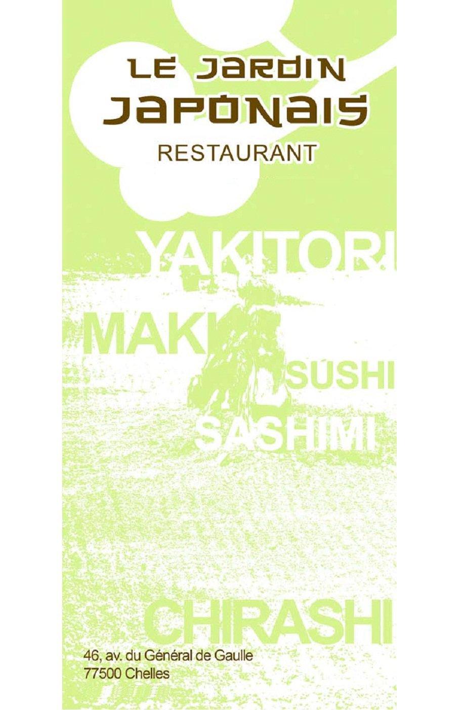Le jardin japonais chelles carte et menu en ligne for Jardin lee menu livraison