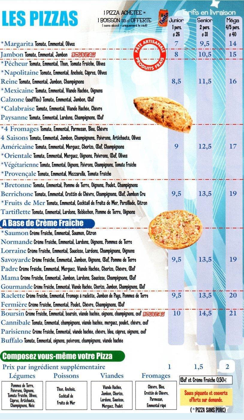 pizza chelles 224 chelles carte et menu en ligne