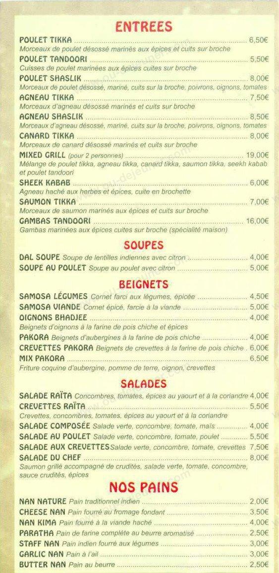 restaurants indiens versailles