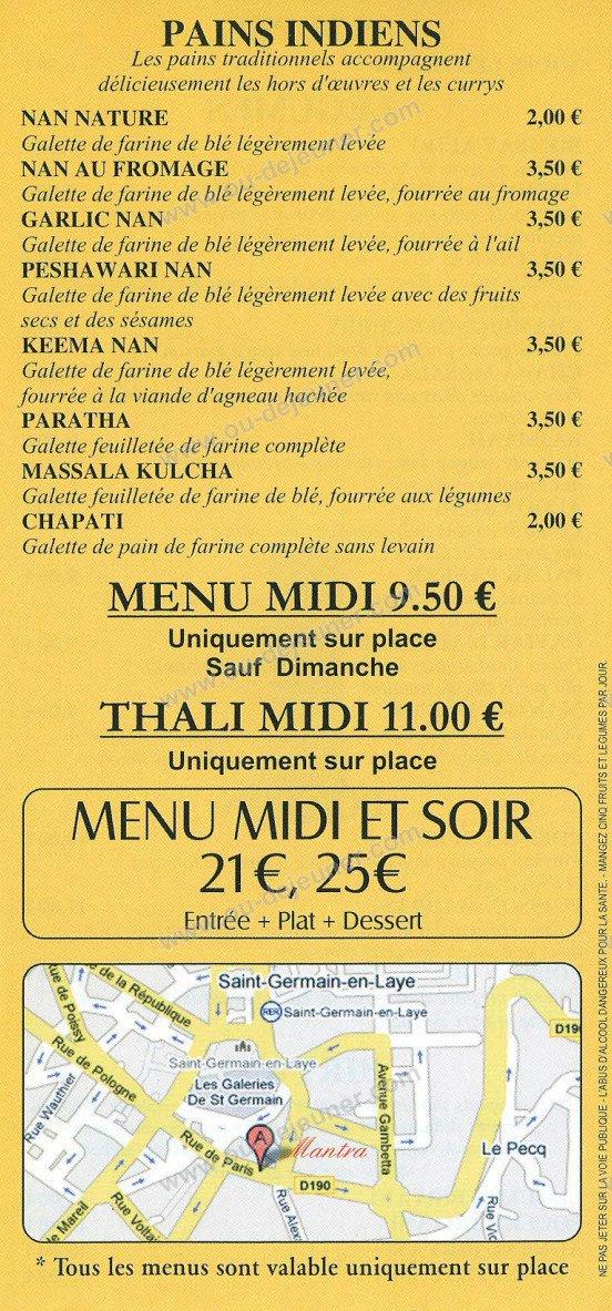 Mantra saint germain en laye carte menu et photos - Cours de cuisine saint germain en laye ...