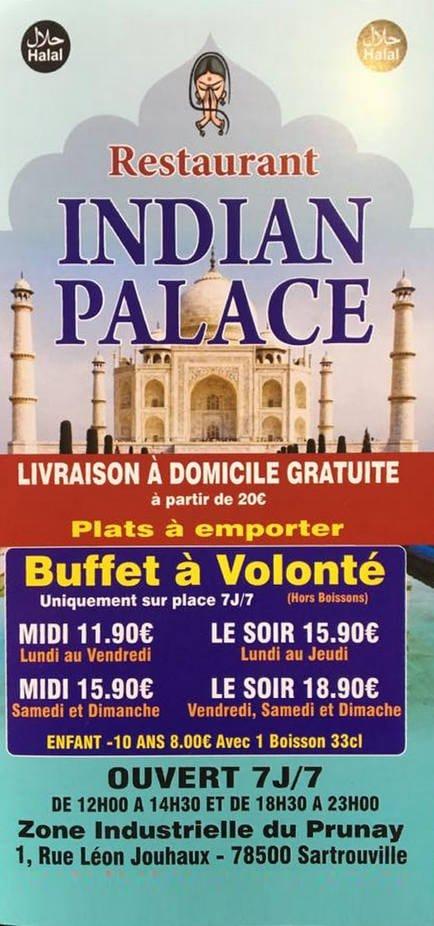Indian palace sartrouville carte menu et photos - Restaurant or grill sartrouville ...