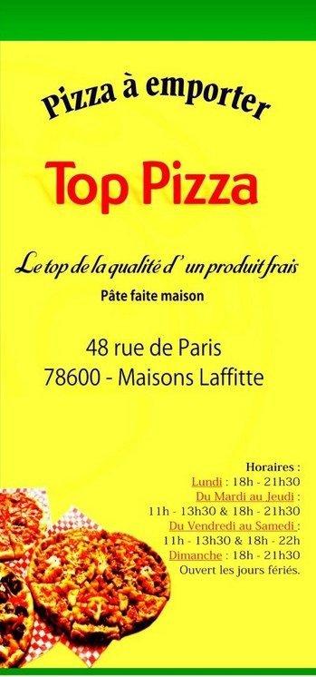 top pizza 224 maisons laffitte carte et menu en ligne