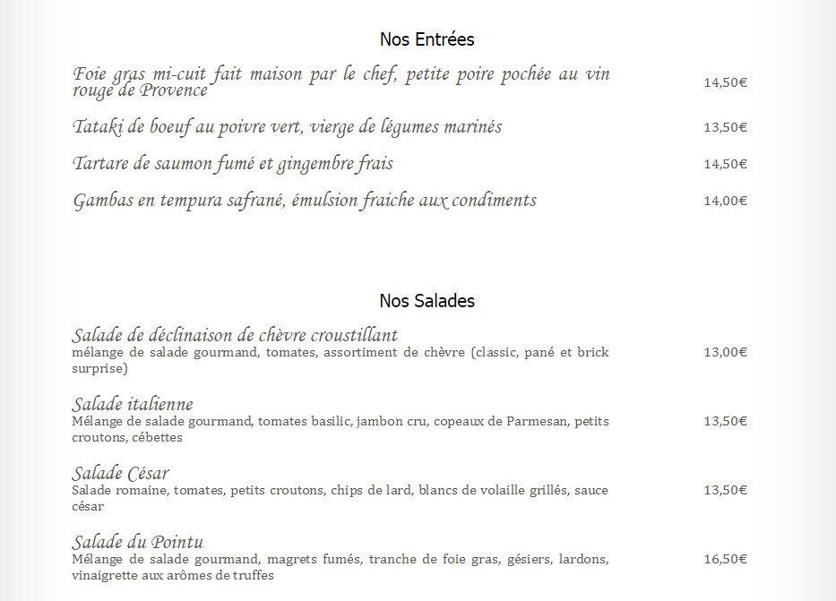 Le pointu toulon carte menu et photos for Restaurant le pointu toulon
