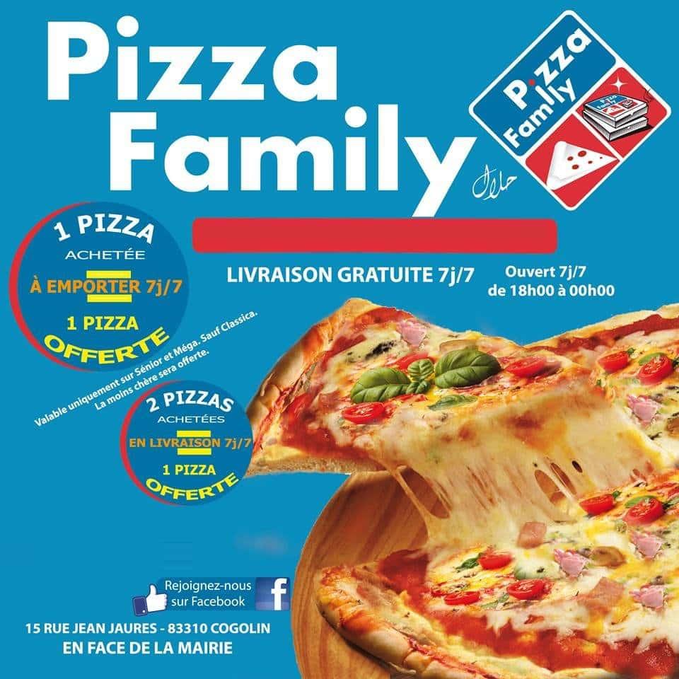 pizza family cogolin carte et menu en ligne. Black Bedroom Furniture Sets. Home Design Ideas
