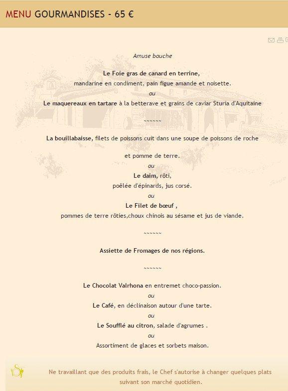Le castellaras fayence carte menu et photos for Menu ete original