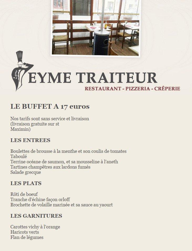 Eyme traiteur saint maximin la sainte baume carte menu - Restaurant la table de bruno saint maximin ...