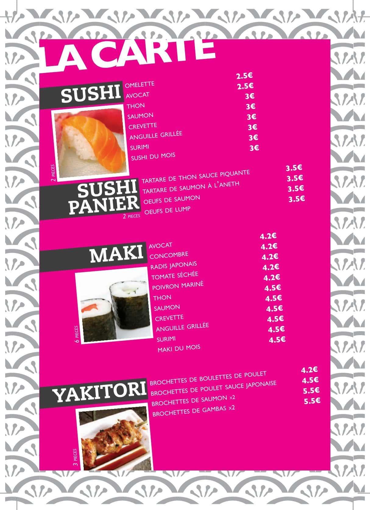 Sushi Box  Saint Maximin La Sainte Baume carte et menu en ligne