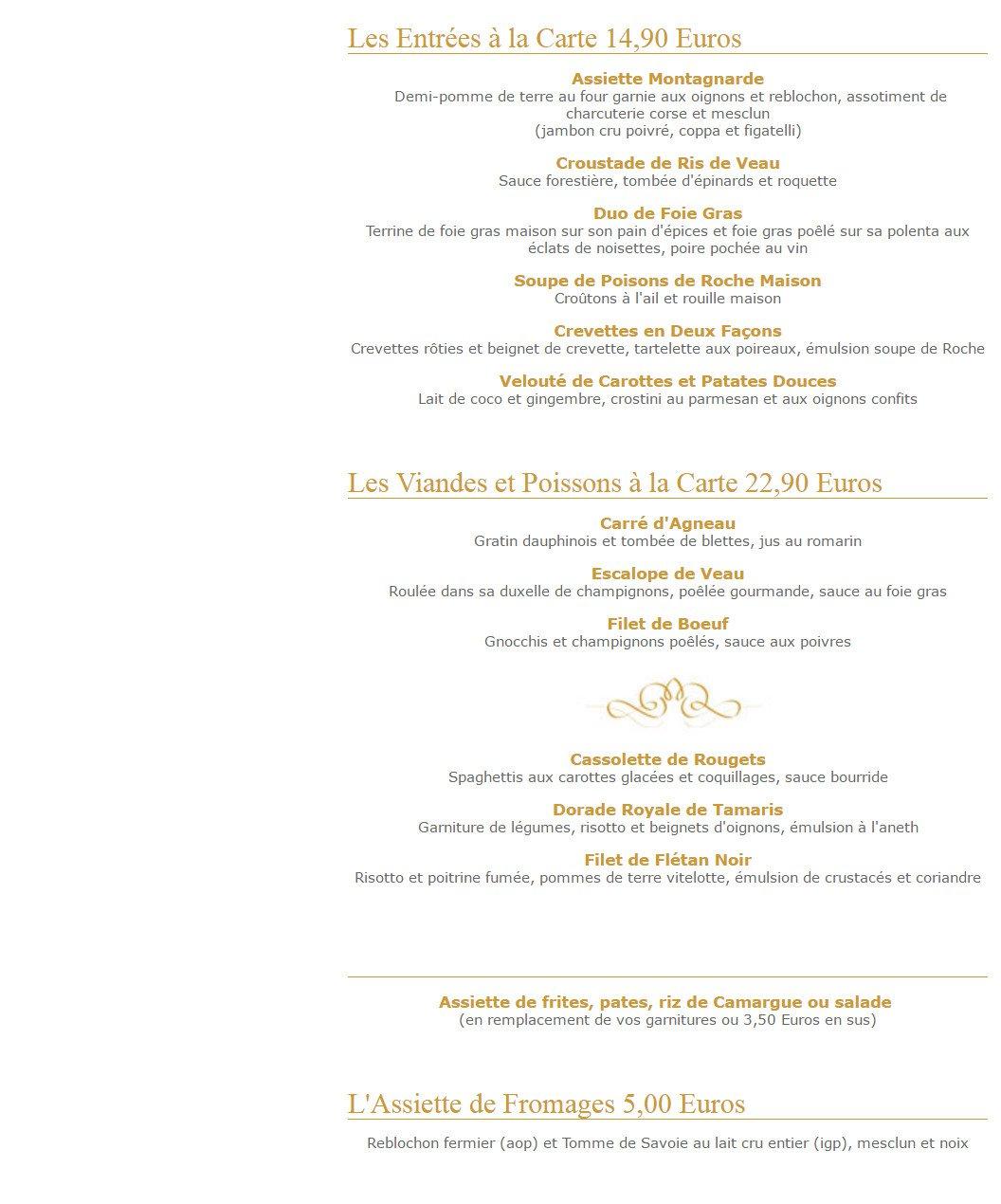 Menu Restaurant Joa La Seyne